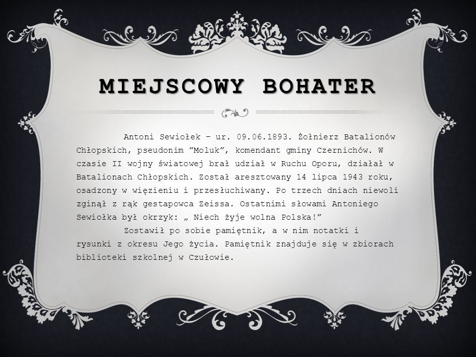 Miejscowy bohater