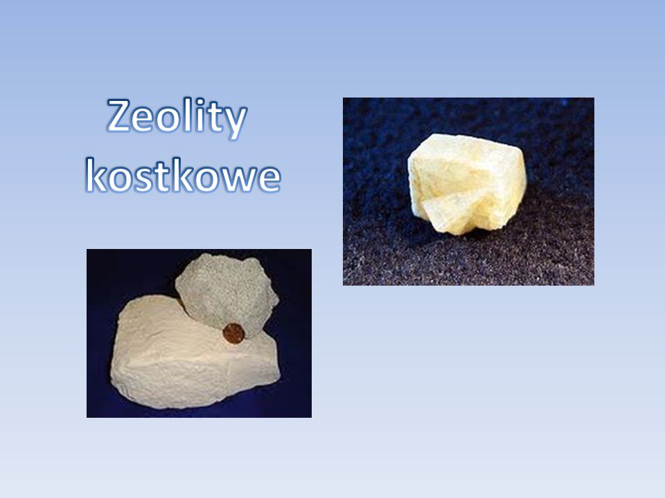 Zeolity kostkowe
