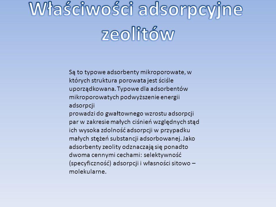 Właściwości adsorpcyjne