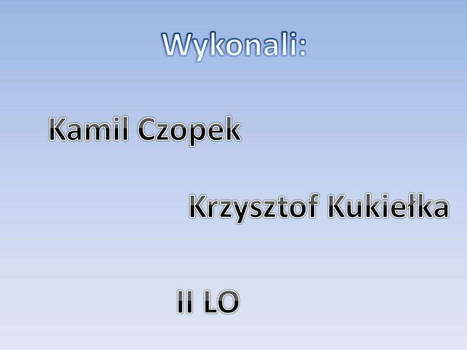 Wykonali: Kamil Czopek Krzysztof Kukiełka II LO