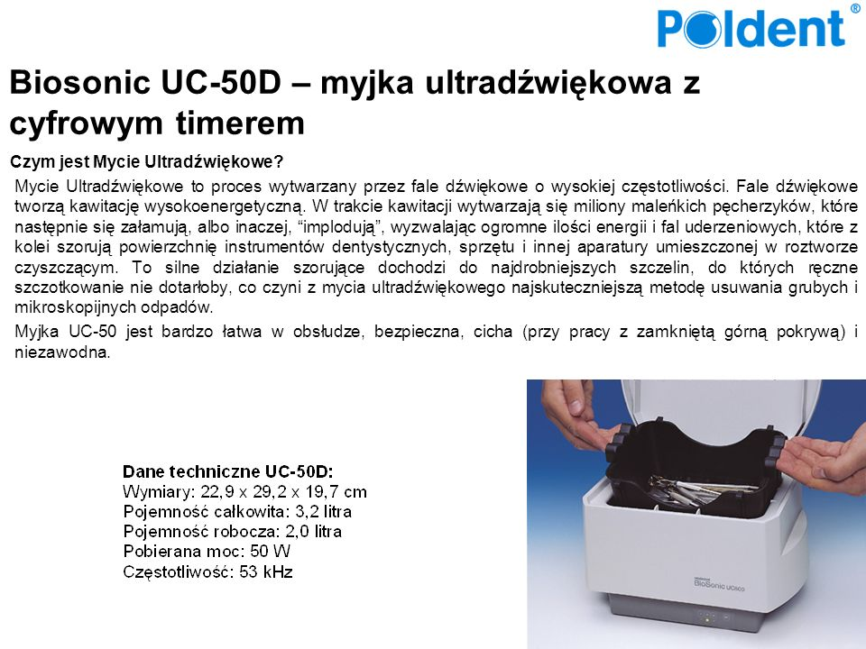 Biosonic UC-50D – myjka ultradźwiękowa z cyfrowym timerem