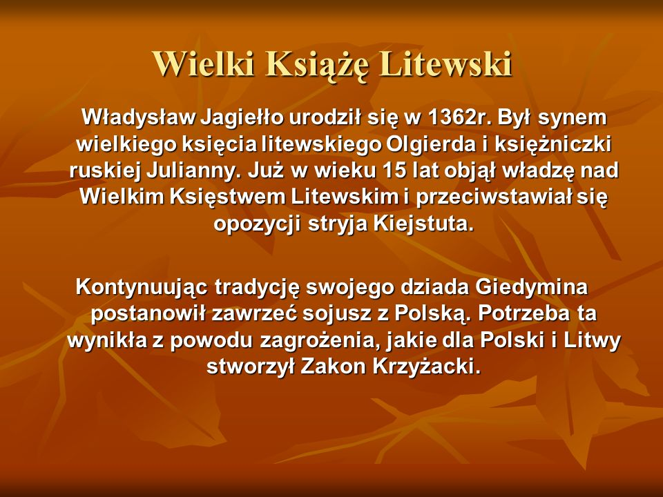 Wielki Książę Litewski