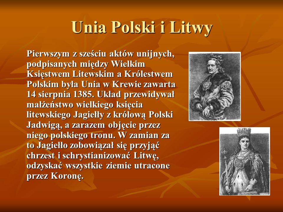 Unia Polski i Litwy