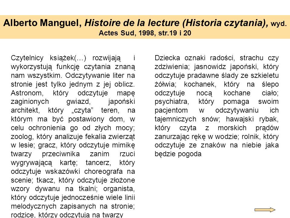 Alberto Manguel, Histoire de la lecture (Historia czytania), wyd