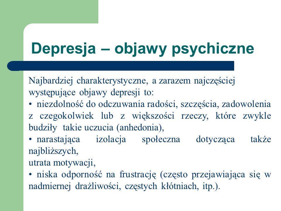 Depresja – objawy psychiczne