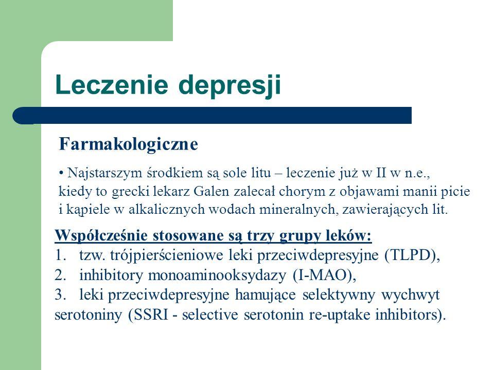 Leczenie depresji Farmakologiczne