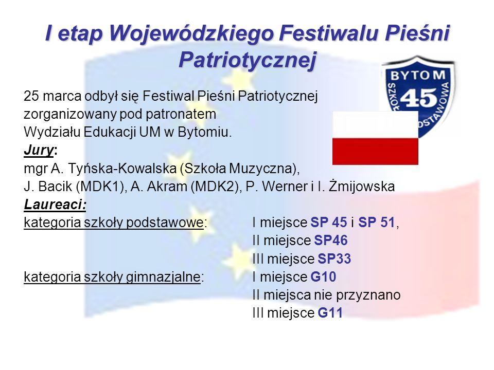 I etap Wojewódzkiego Festiwalu Pieśni Patriotycznej