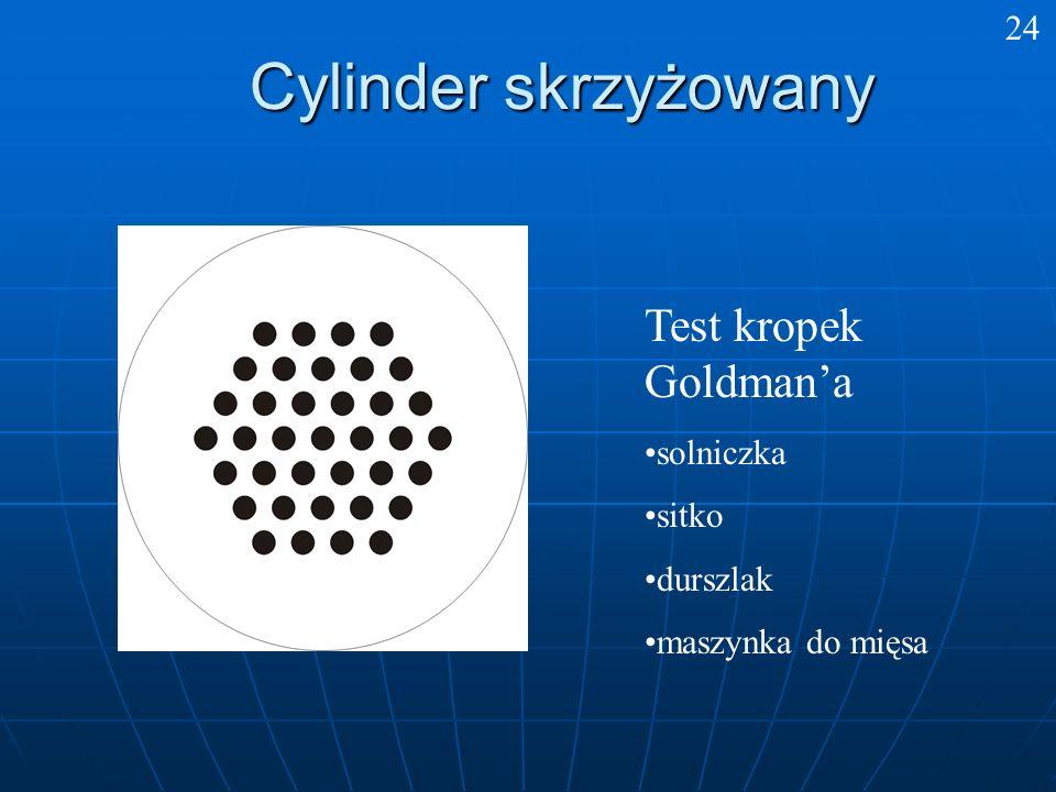 Cylinder skrzyżowany Test kropek Goldman'a 24 solniczka sitko durszlak