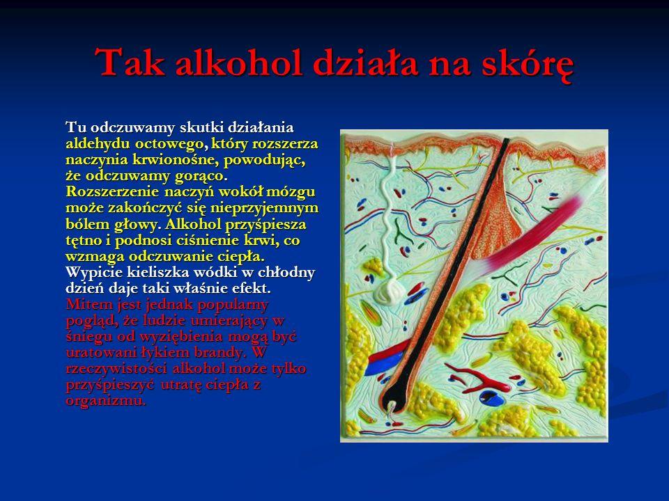 Tak alkohol działa na skórę