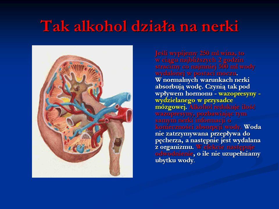 Tak alkohol działa na nerki