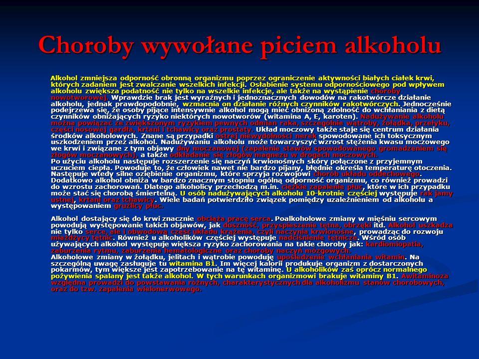 Choroby wywołane piciem alkoholu