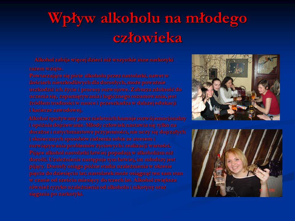 Wpływ alkoholu na młodego człowieka