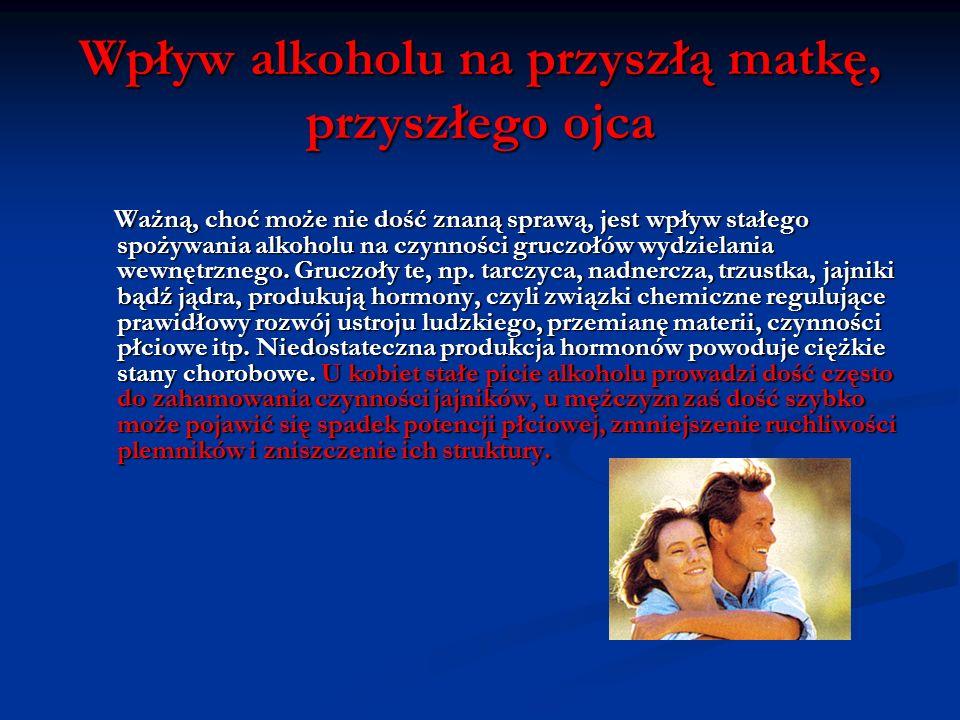 Wpływ alkoholu na przyszłą matkę, przyszłego ojca