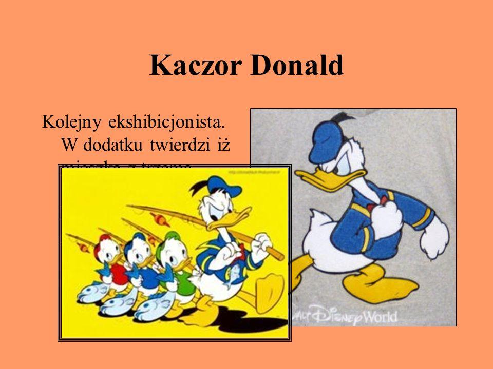 Kaczor Donald Kolejny ekshibicjonista.