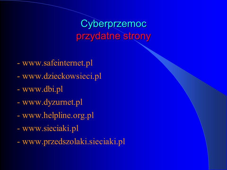 Cyberprzemoc przydatne strony