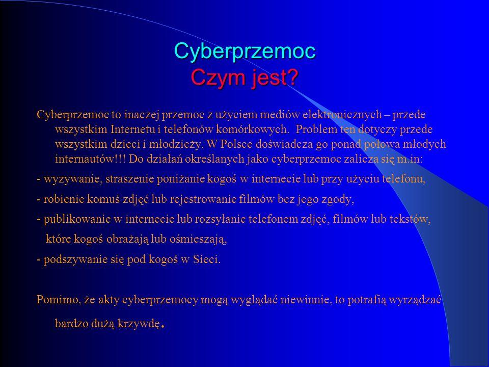 Cyberprzemoc Czym jest
