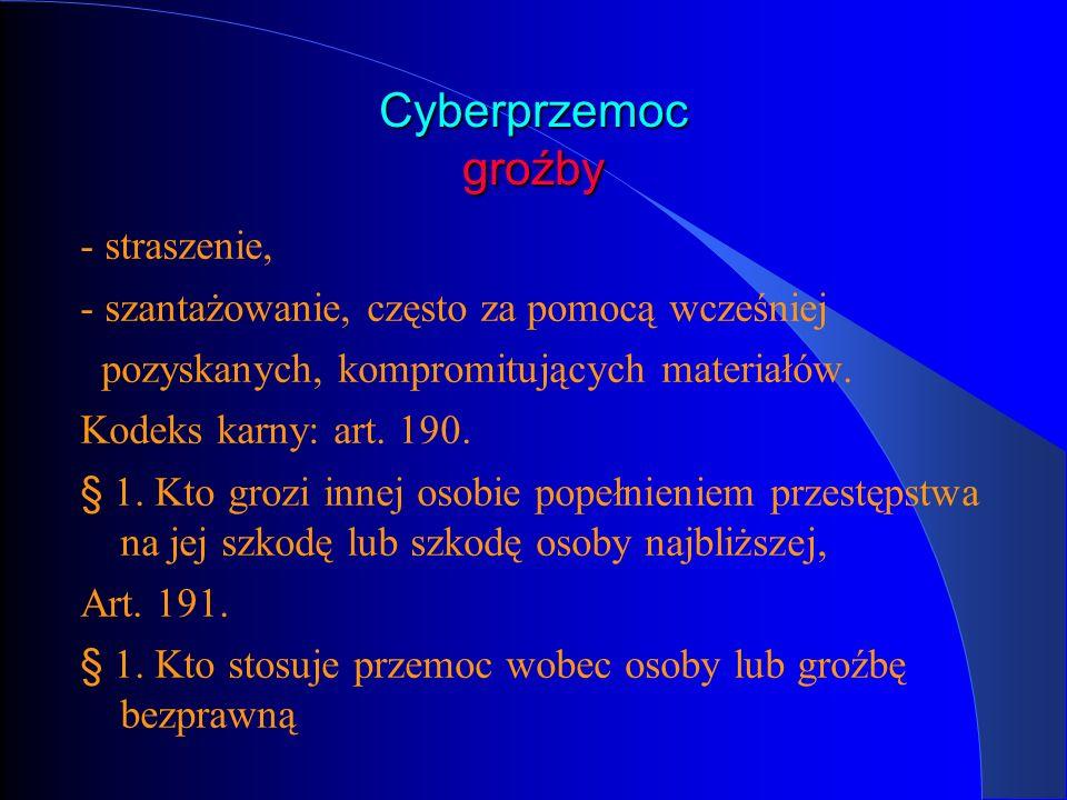 Cyberprzemoc groźby - straszenie,