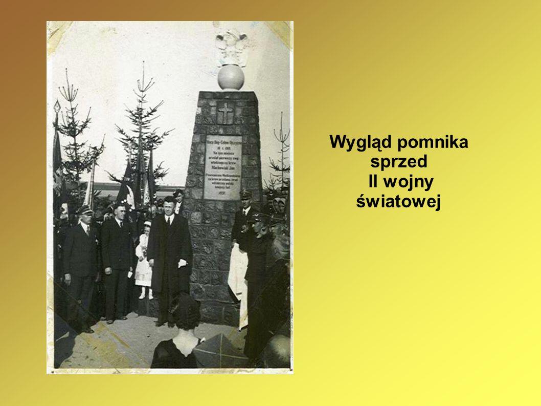 Wygląd pomnika sprzed II wojny światowej