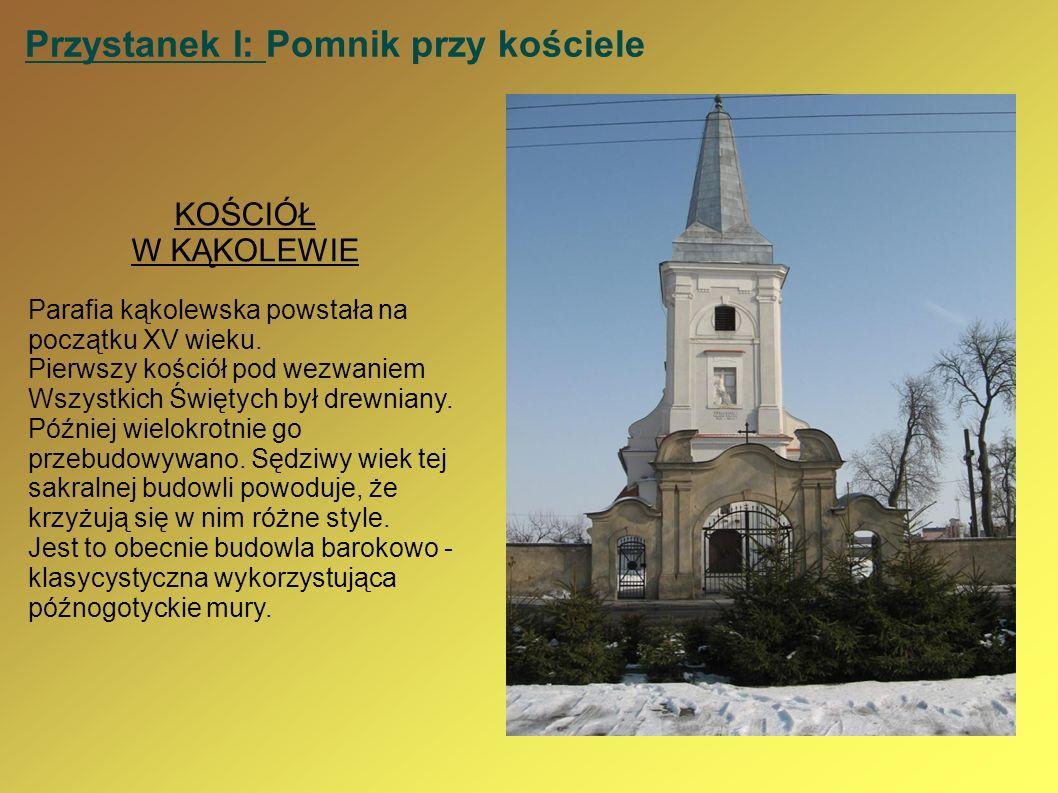 Przystanek I: Pomnik przy kościele