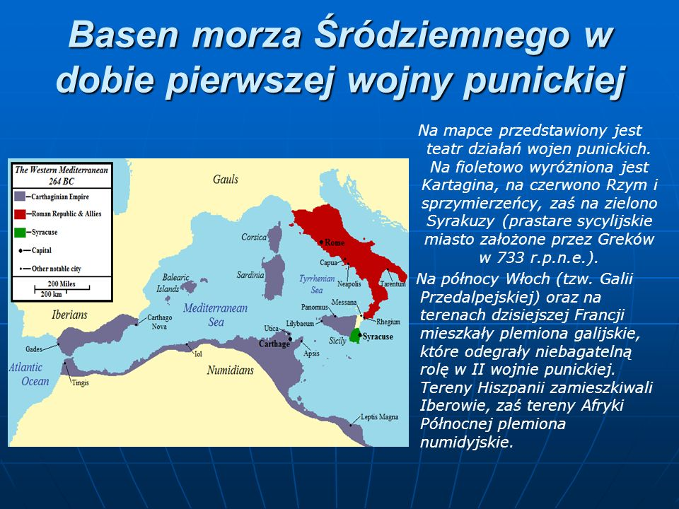 Basen morza Śródziemnego w dobie pierwszej wojny punickiej