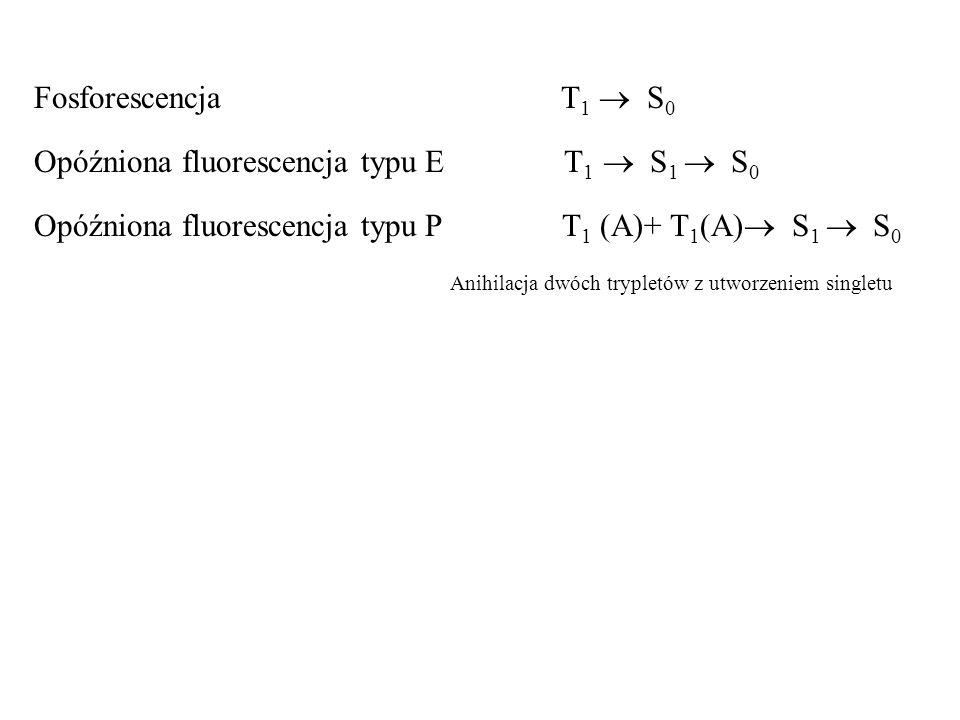 Opóźniona fluorescencja typu E T1  S1  S0