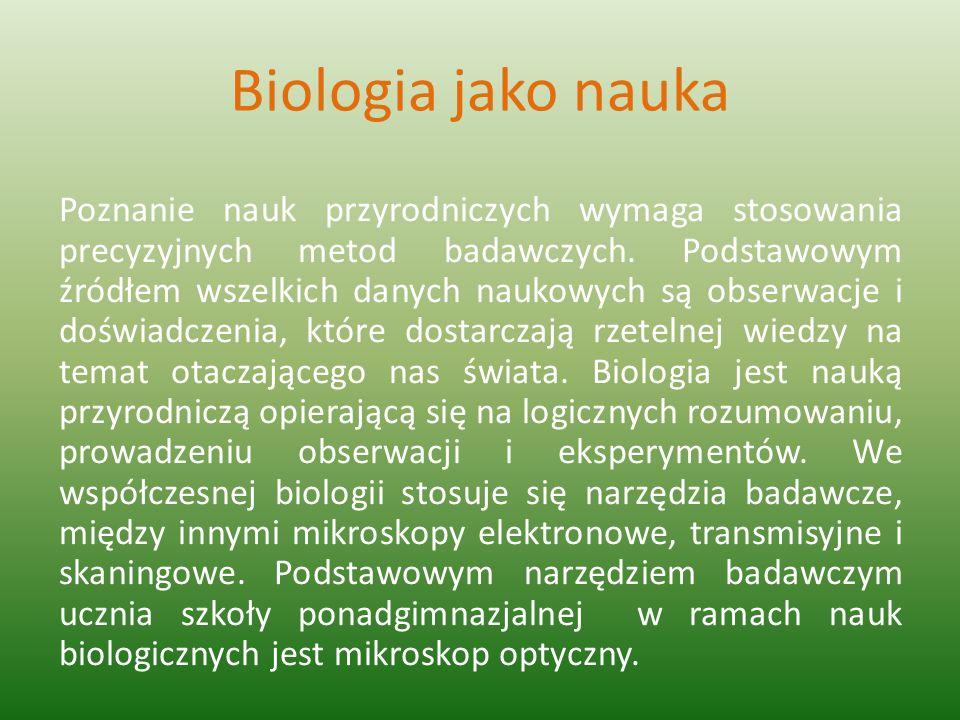Biologia jako nauka