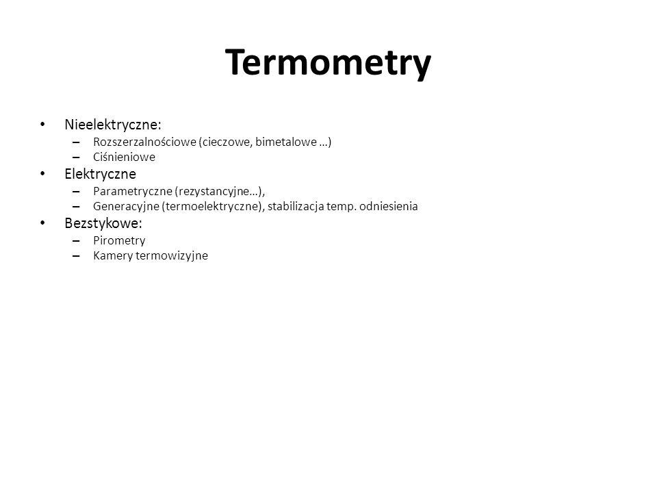Termometry Nieelektryczne: Elektryczne Bezstykowe: