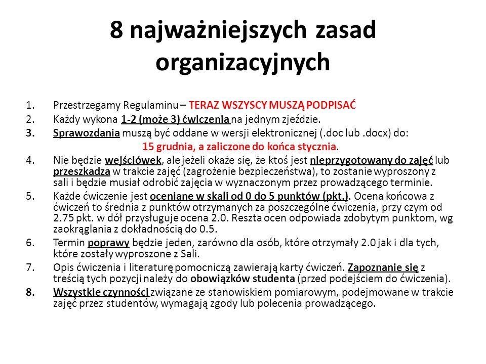 8 najważniejszych zasad organizacyjnych