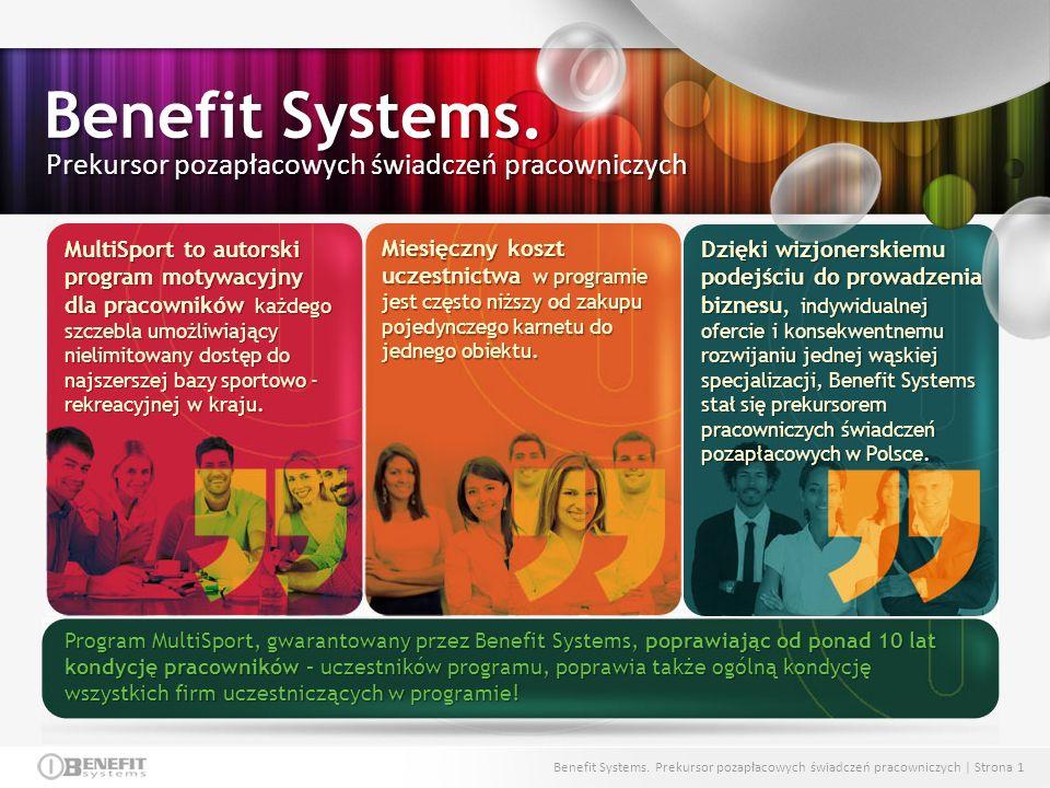 Benefit Systems. Prekursor pozapłacowych świadczeń pracowniczych
