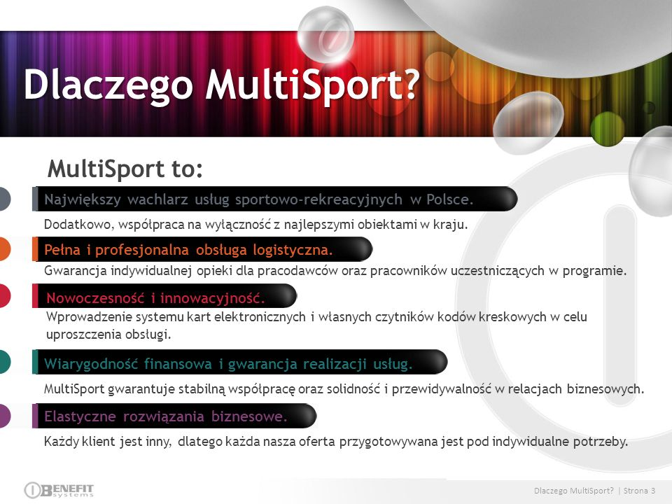 Dlaczego MultiSport MultiSport to: