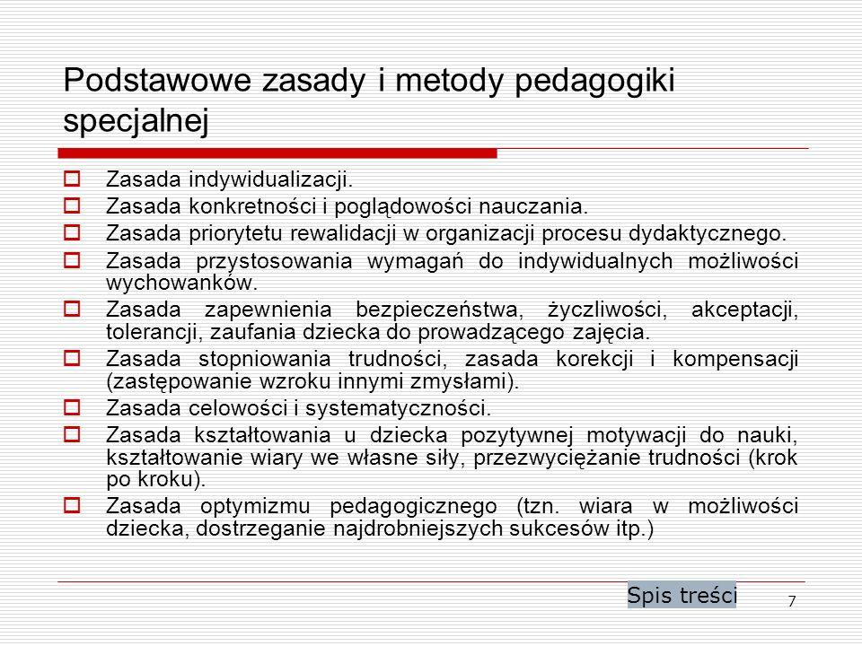 Podstawowe zasady i metody pedagogiki specjalnej