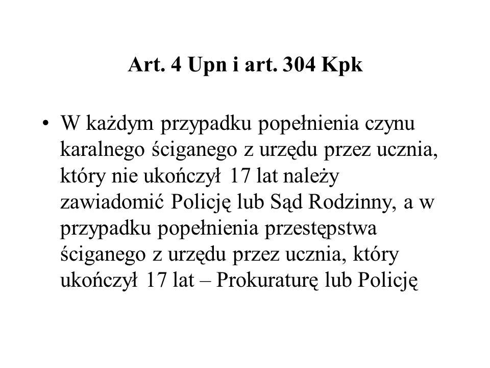 Art. 4 Upn i art. 304 Kpk