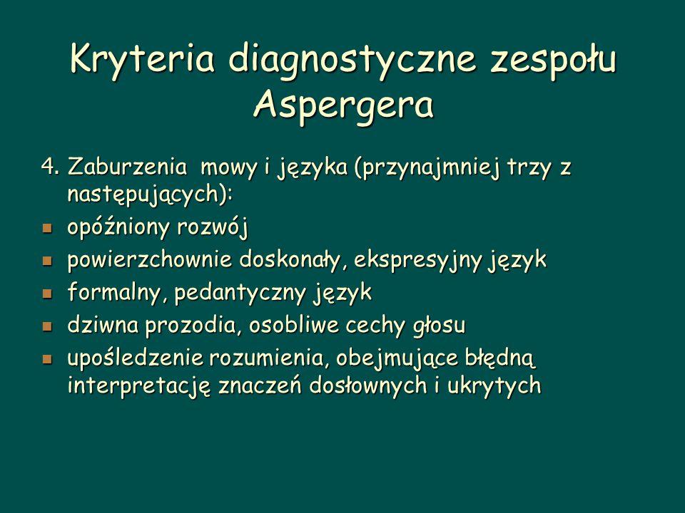 Kryteria diagnostyczne zespołu Aspergera