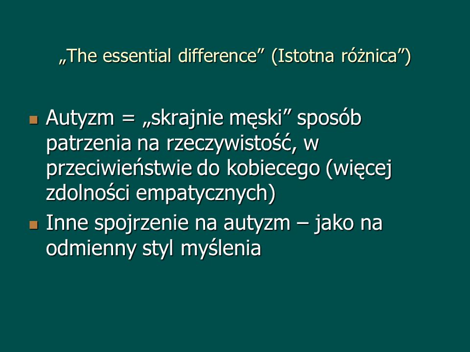 """The essential difference (Istotna różnica )"
