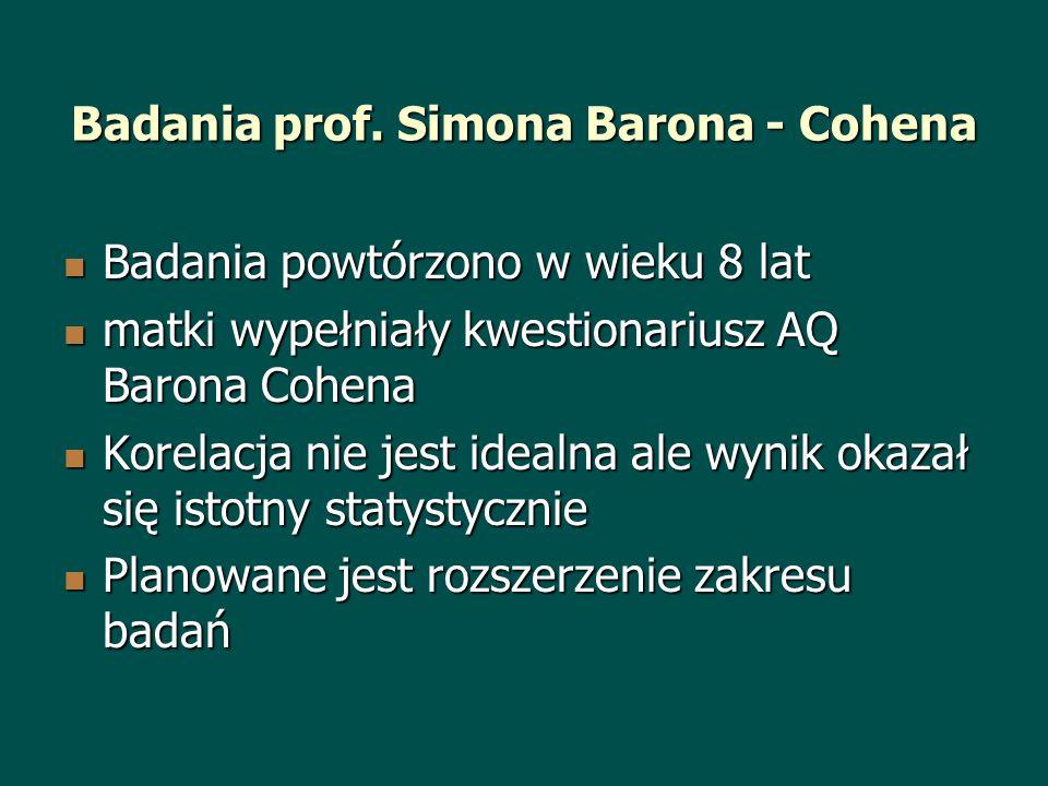 Badania prof. Simona Barona - Cohena