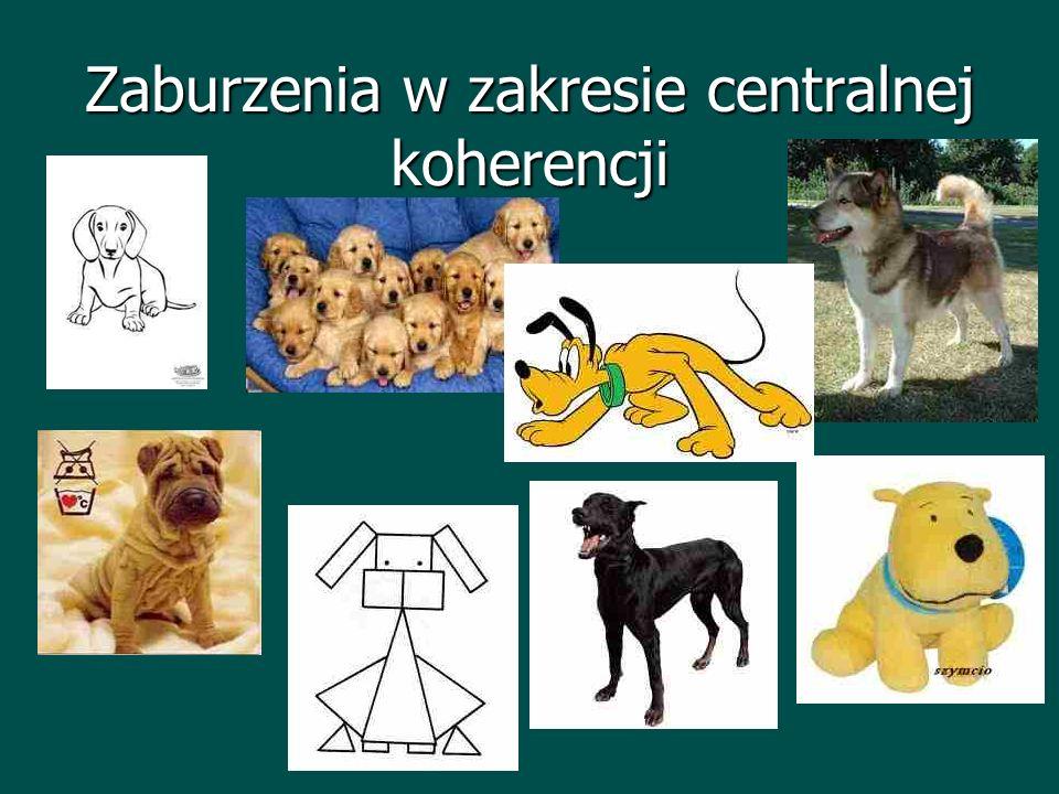 Zaburzenia w zakresie centralnej koherencji