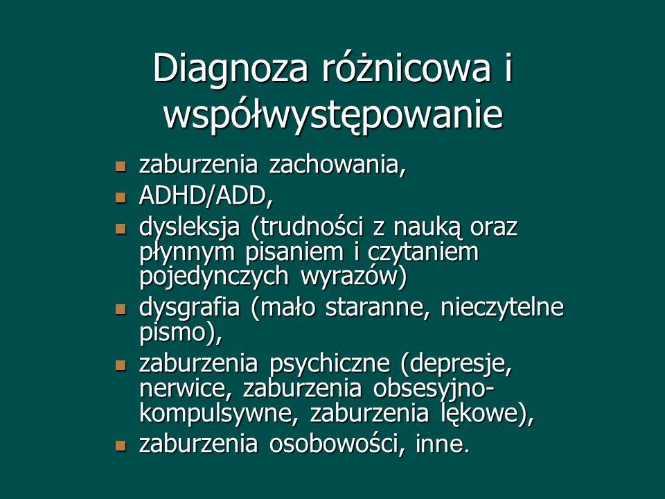 Diagnoza różnicowa i współwystępowanie