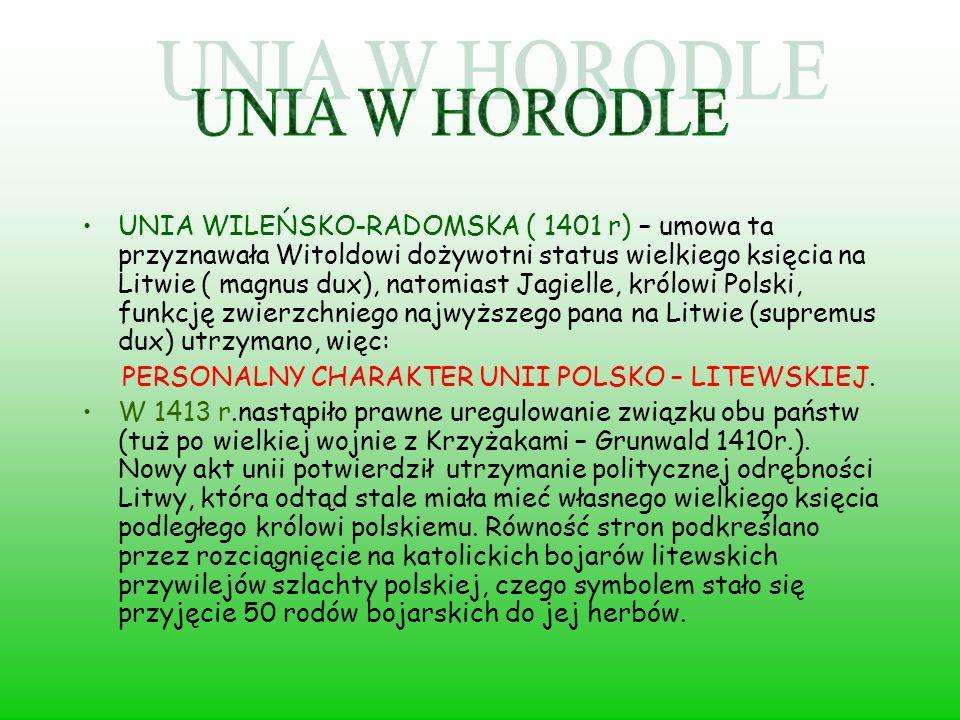 UNIA W HORODLE