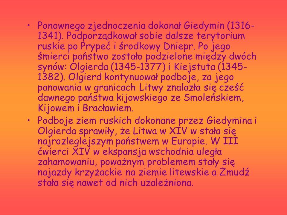 Ponownego zjednoczenia dokonał Giedymin (1316-1341)