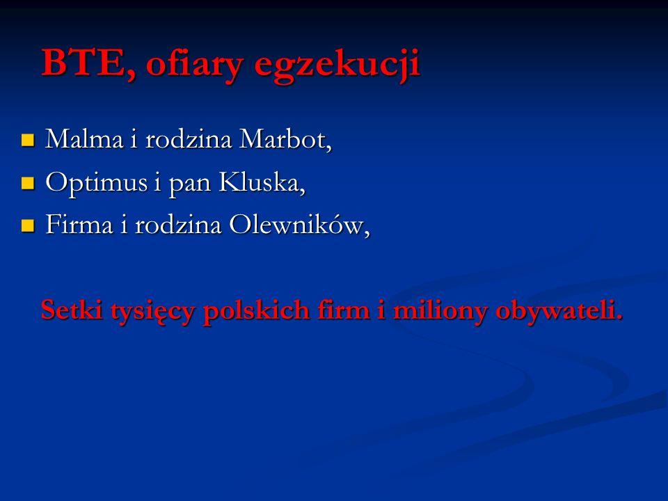 Setki tysięcy polskich firm i miliony obywateli.