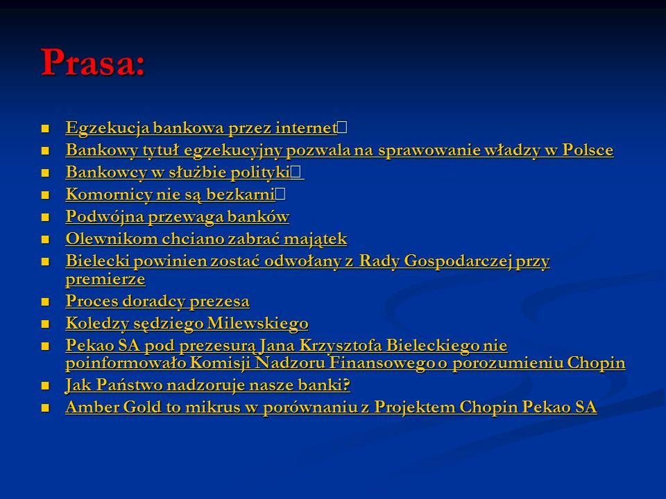 Prasa: Egzekucja bankowa przez internet