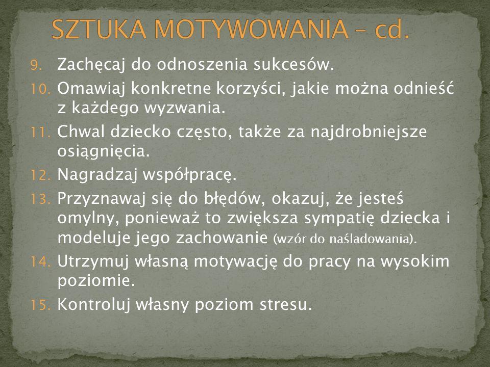 SZTUKA MOTYWOWANIA – cd.