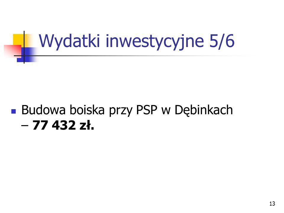 Wydatki inwestycyjne 5/6