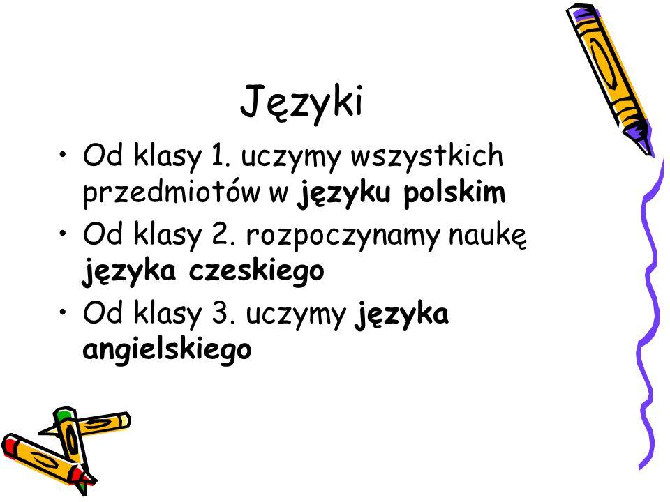 Języki Od klasy 1. uczymy wszystkich przedmiotów w języku polskim