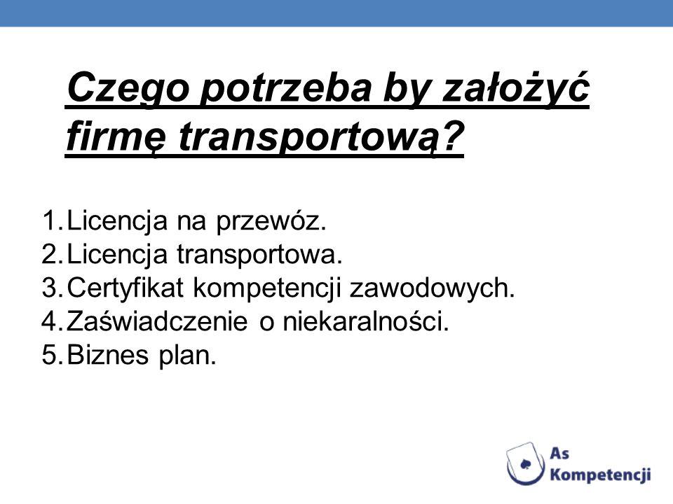 Czego potrzeba by założyć firmę transportową