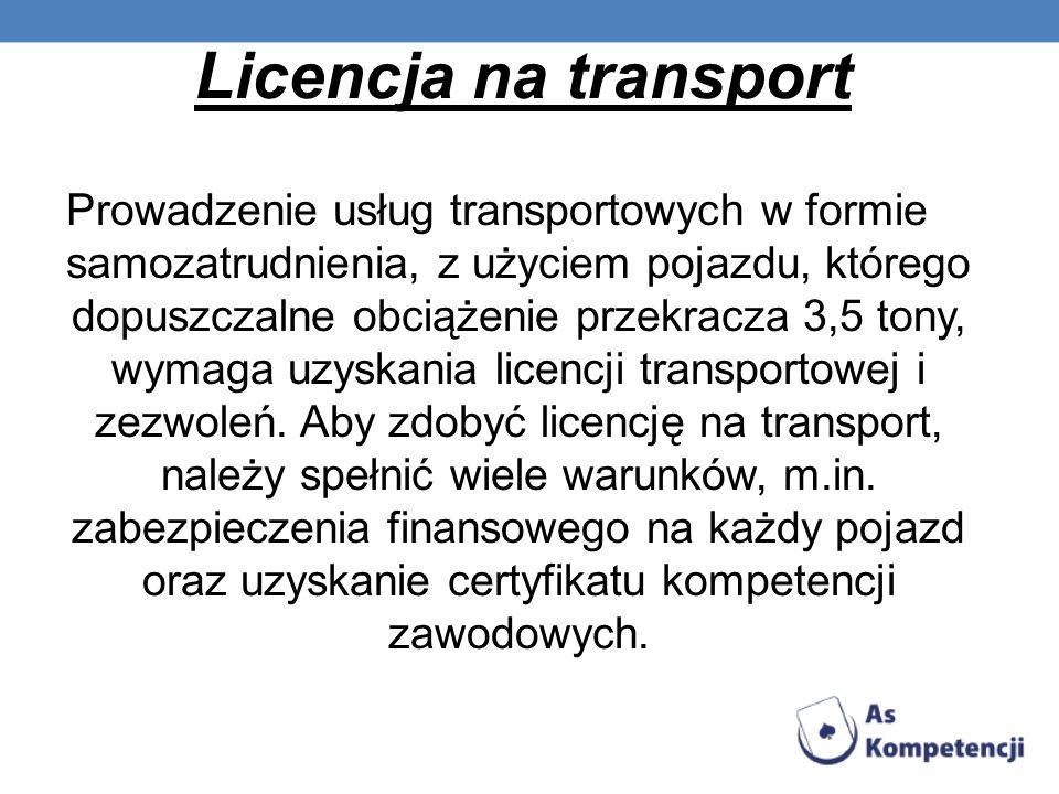 Licencja na transport