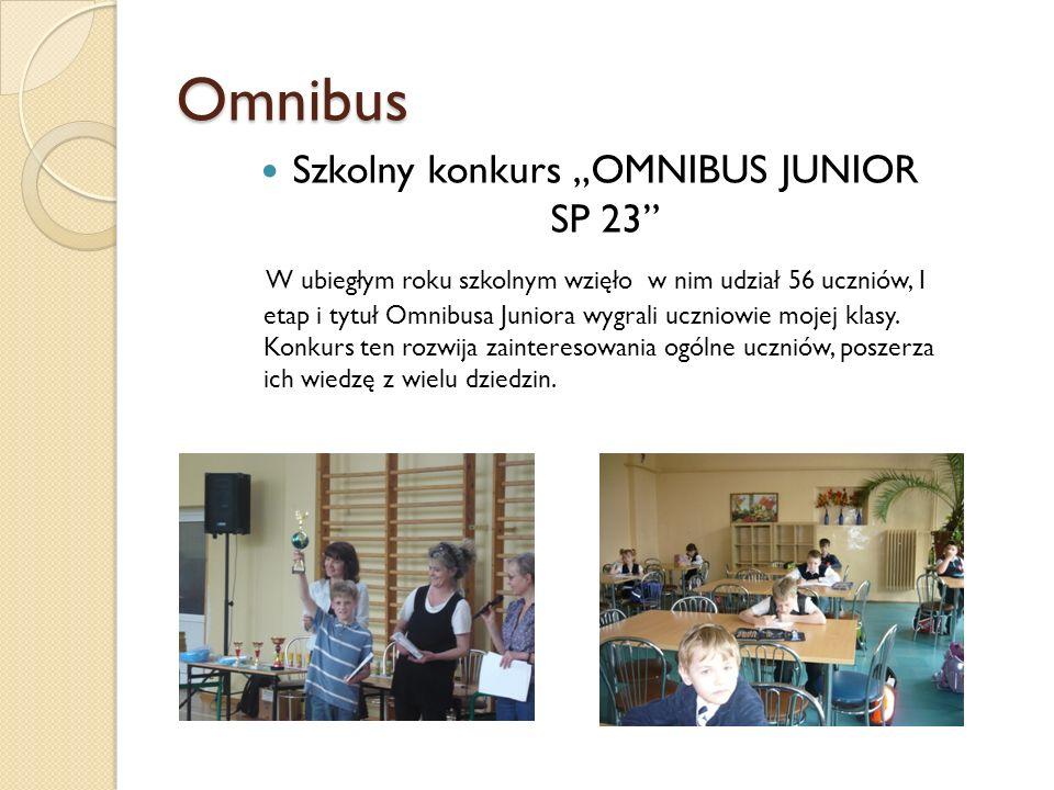 "Szkolny konkurs ""OMNIBUS JUNIOR SP 23"