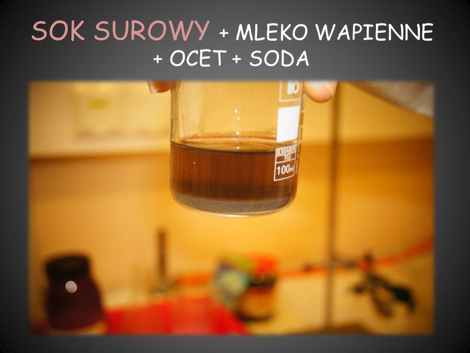 SOK SUROWY + MLEKO WAPIENNE + OCET + SODA