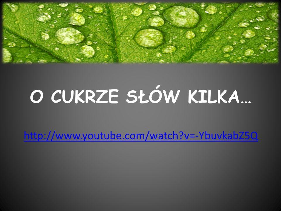 O CUKRZE SŁÓW KILKA… http://www.youtube.com/watch v=-YbuvkabZ5Q