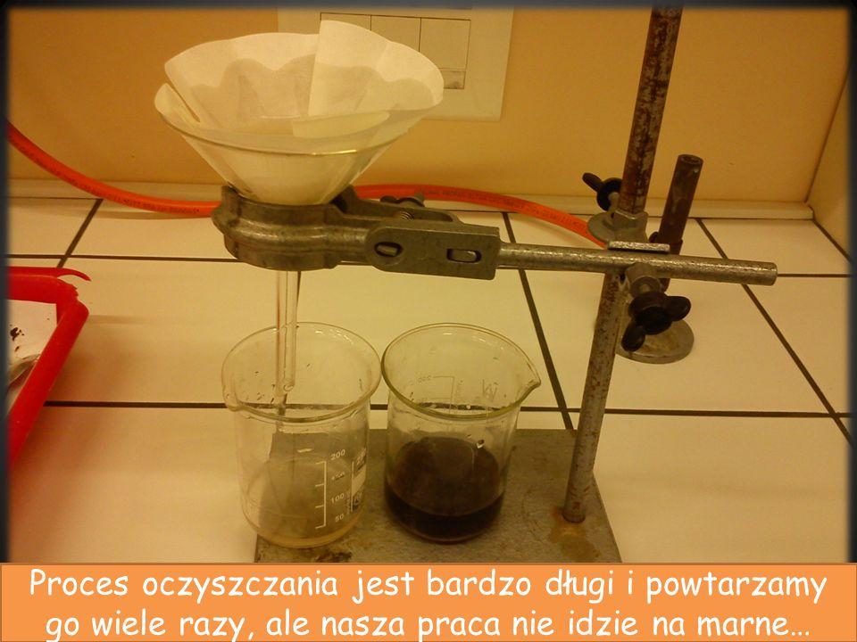 Proces oczyszczania jest bardzo długi i powtarzamy go wiele razy, ale nasza praca nie idzie na marne…